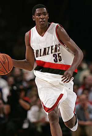 Kevin Durant in a Portland Trail Blazers Uniform