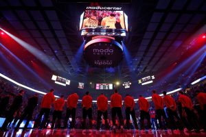 Blazers National Anthem at Moda Center